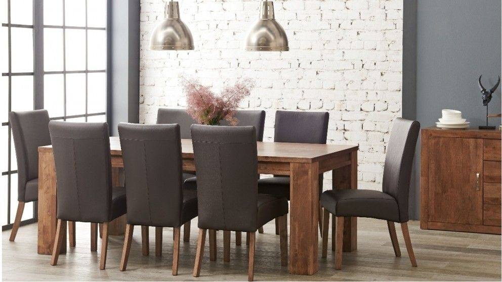 Jasper 9 Piece Dining Suite – Dining Furniture – Dining Room Regarding Caira Black 7 Piece Dining Sets With Upholstered Side Chairs (Image 14 of 25)