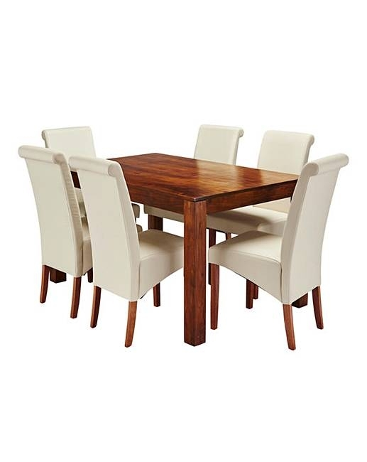 Java Acacia Dining Table With 6 Chairs | J D Williams Regarding Java Dining Tables (Image 9 of 25)