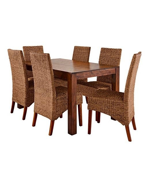 Java Dining Table With Six Bali Chairs | Ambrose Wilson in Java Dining Tables