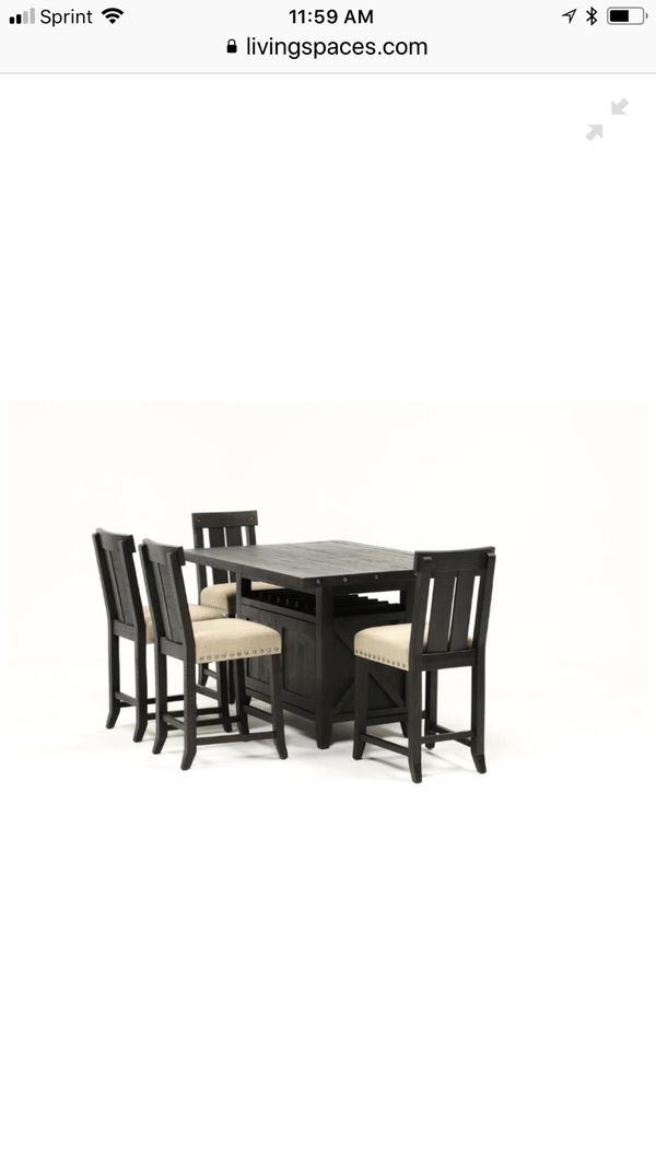 Jaxon 5 Piece Extension Counter Set W/wood Stools For Sale In Perris Pertaining To Jaxon Grey 5 Piece Extension Counter Sets With Fabric Stools (Image 12 of 25)