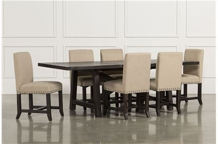 Jaxon 7 Piece Rectangle Dining Set W/upholstered Chairs - Main regarding Jaxon Extension Rectangle Dining Tables