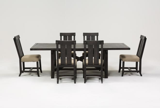 Featured Image of Jaxon 7 Piece Rectangle Dining Sets With Wood Chairs