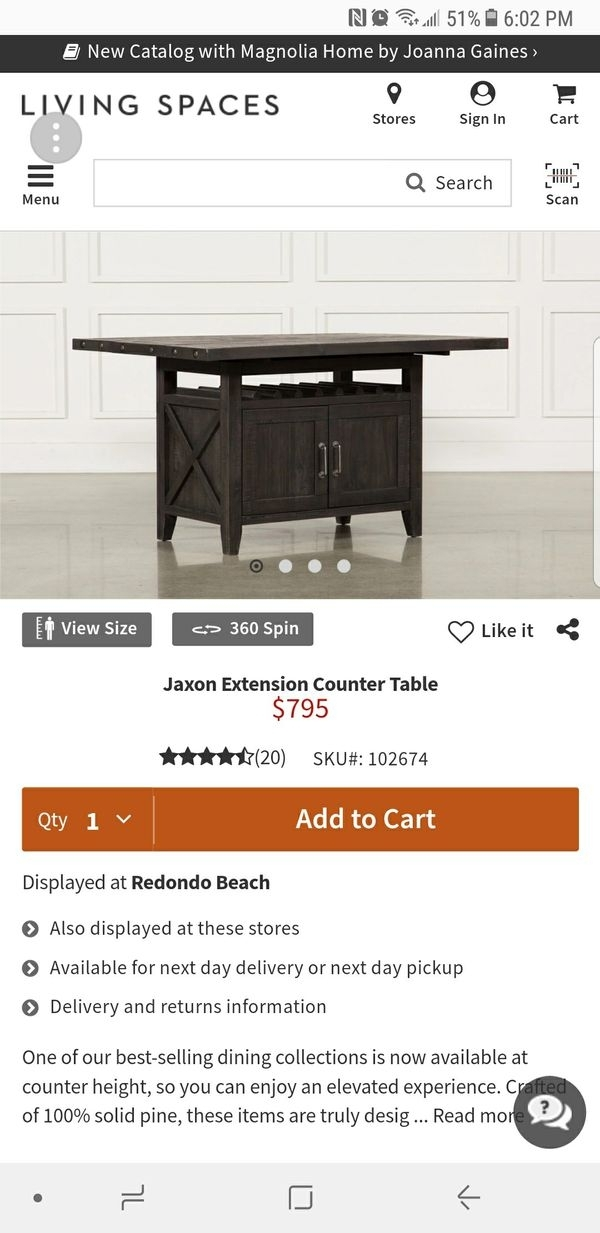 Jaxon Extension Counter Table For Sale In Bellflower, Ca – Offerup Regarding Jaxon Extension Rectangle Dining Tables (Image 11 of 25)