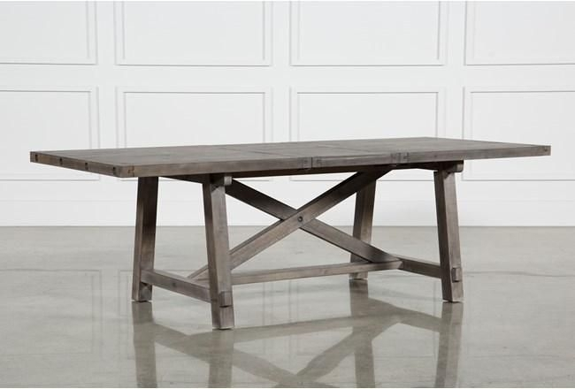 Jaxon Grey Rectangle Extension Dining Table | Extensions And Gray Within Jaxon Round Extension Dining Tables (Image 10 of 25)