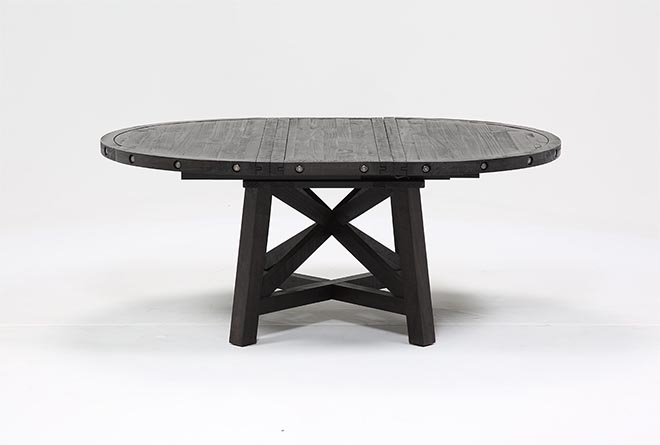 Jaxon Round Extension Dining Table | Living Spaces In Jaxon Round Extension Dining Tables (Photo 1 of 25)