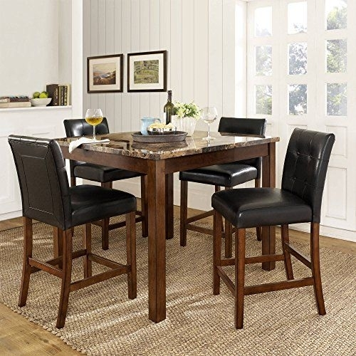 Jaxterrific Charming 5 Piece Dining Set, 1 Table And 4 Chairs In Craftsman 5 Piece Round Dining Sets With Uph Side Chairs (Image 18 of 25)