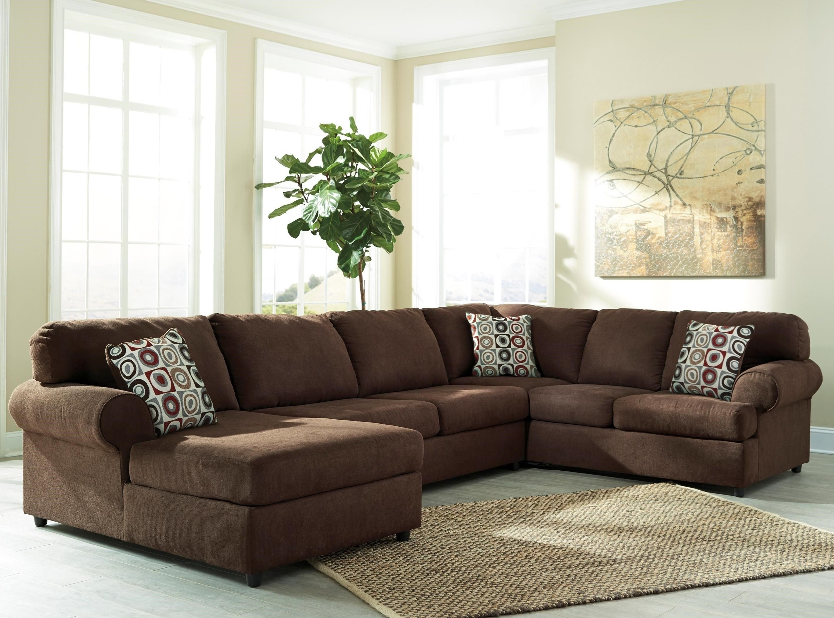 Jayceon Steel 3 Pc Laf Corner Chaise Sectional T within Malbry Point 3 Piece Sectionals With Laf Chaise