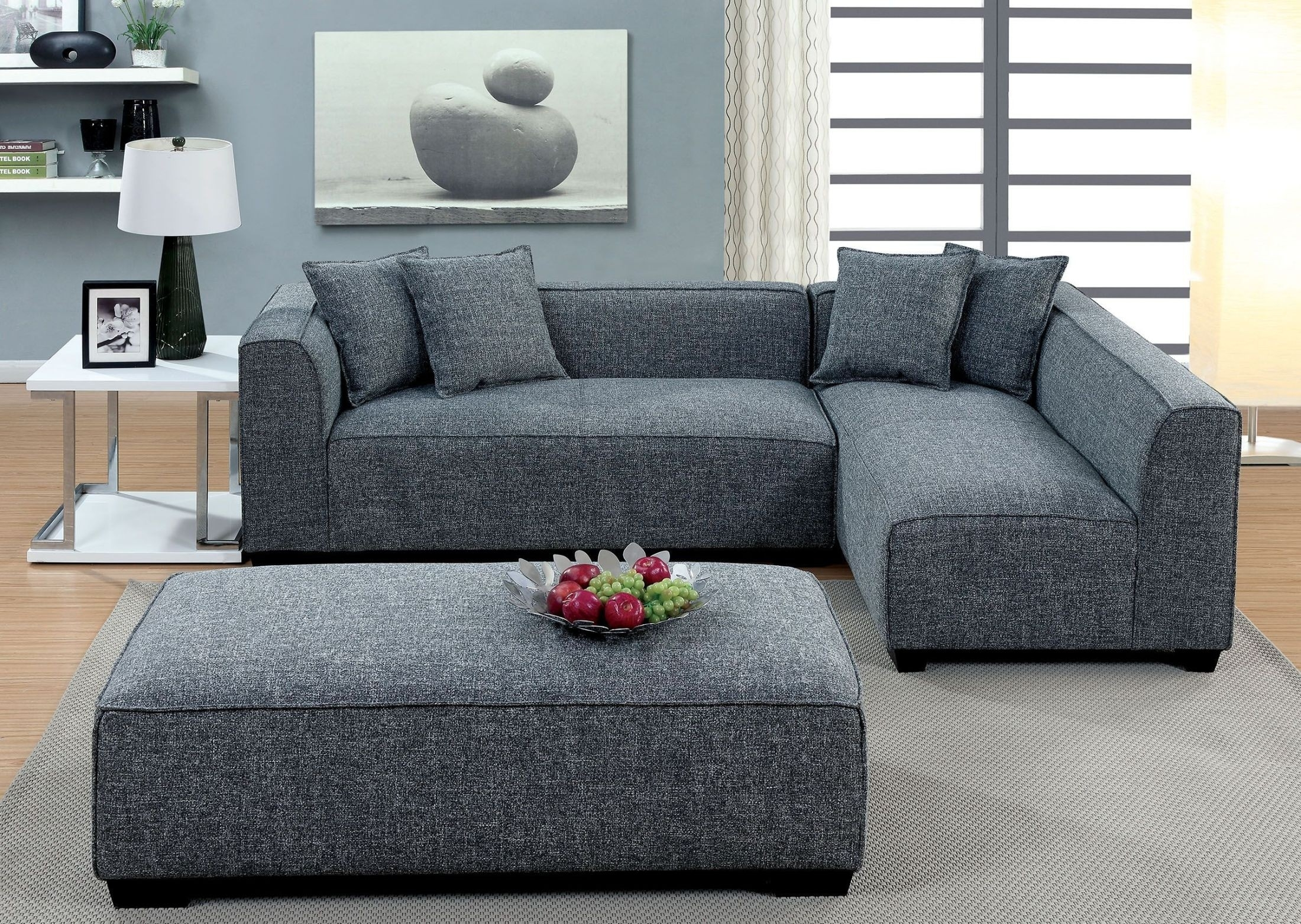 Jaylene Gray Sectional From Furniture Of America   Coleman Furniture With Adeline 3 Piece Sectionals (Image 15 of 25)
