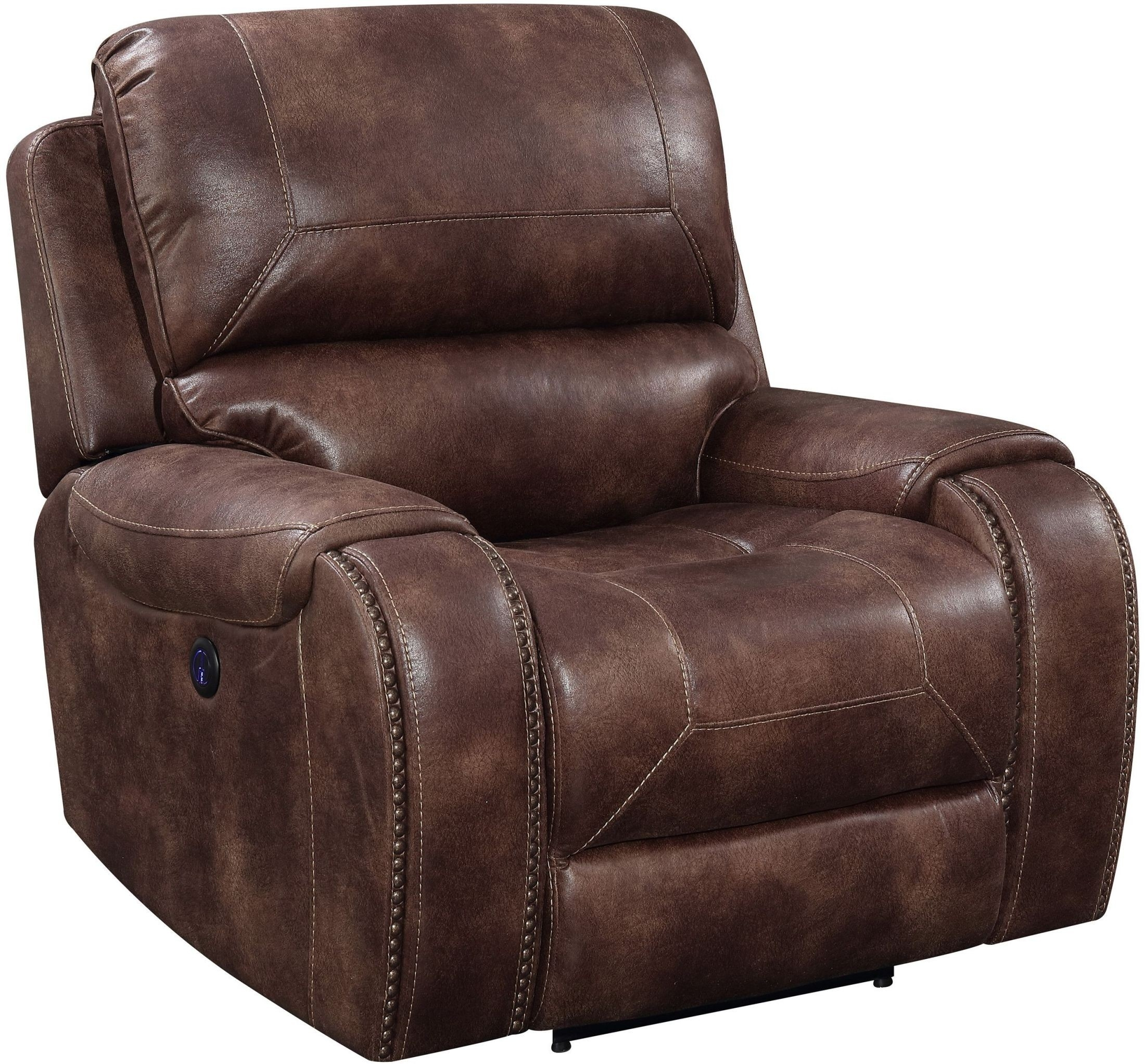 Jennings Waylon Mocha Power Recliner From Prime Resource With Waylon 3 Piece Power Reclining Sectionals (Image 13 of 25)