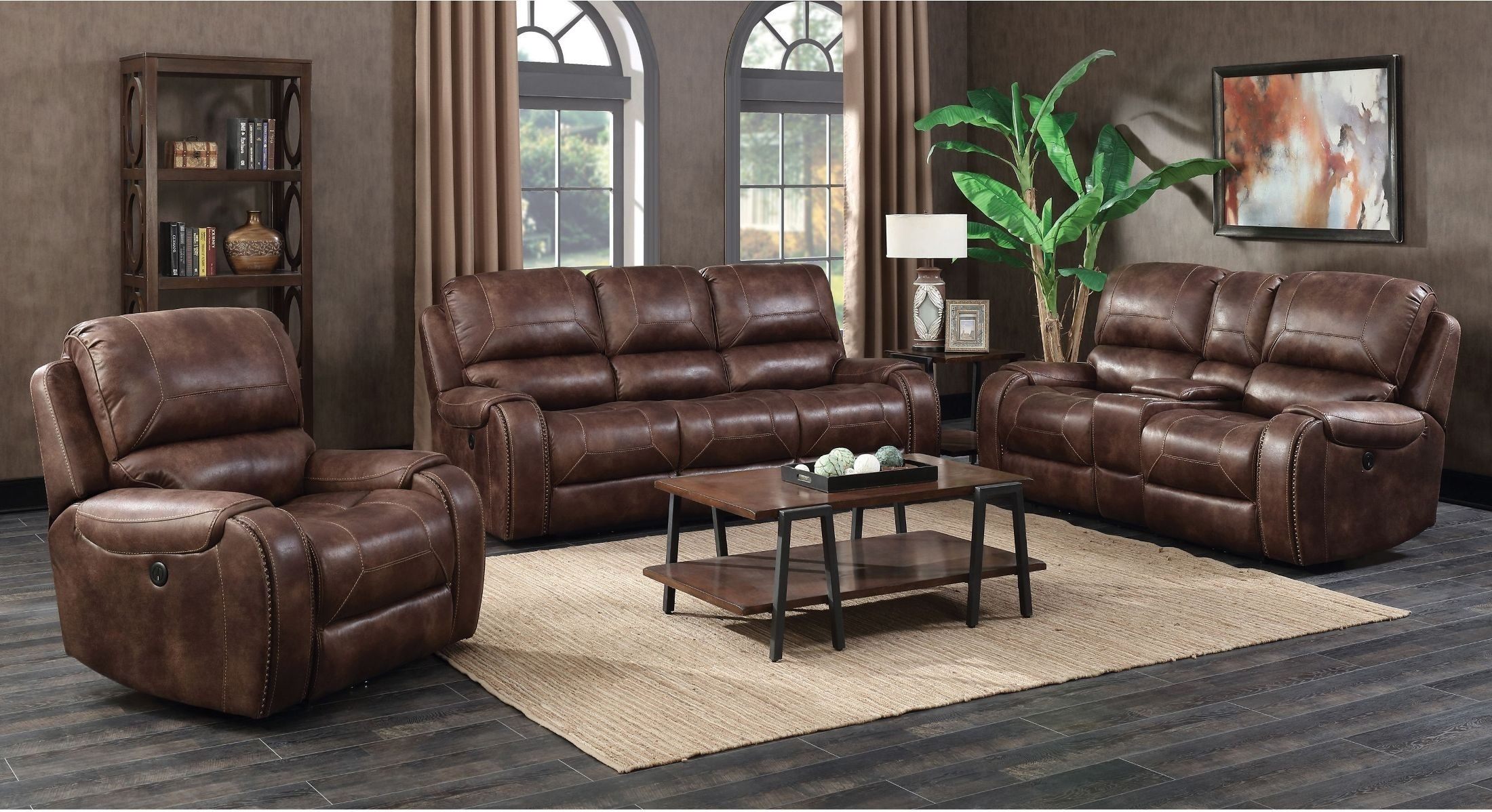 Jennings Waylon Mocha Power Reclining Living Room Set From Prime Within Waylon 3 Piece Power Reclining Sectionals (Image 14 of 25)