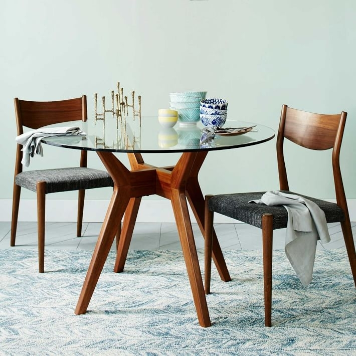 Jensen Round Glass Dining Table   West Elm Within Round Dining Tables (Photo 1 of 25)