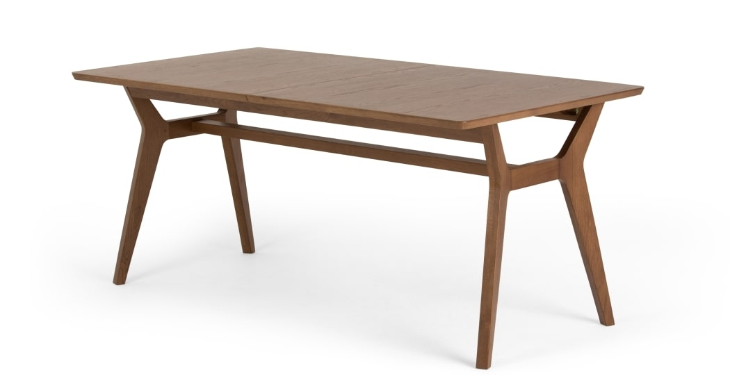 Jenson Extending Dining Table, Dark Stain Oak | Made inside Extendable Dining Sets