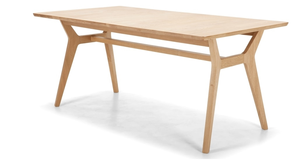Jenson Extending Dining Table, Solid Oak | Made In Extending Solid Oak Dining Tables (View 12 of 25)