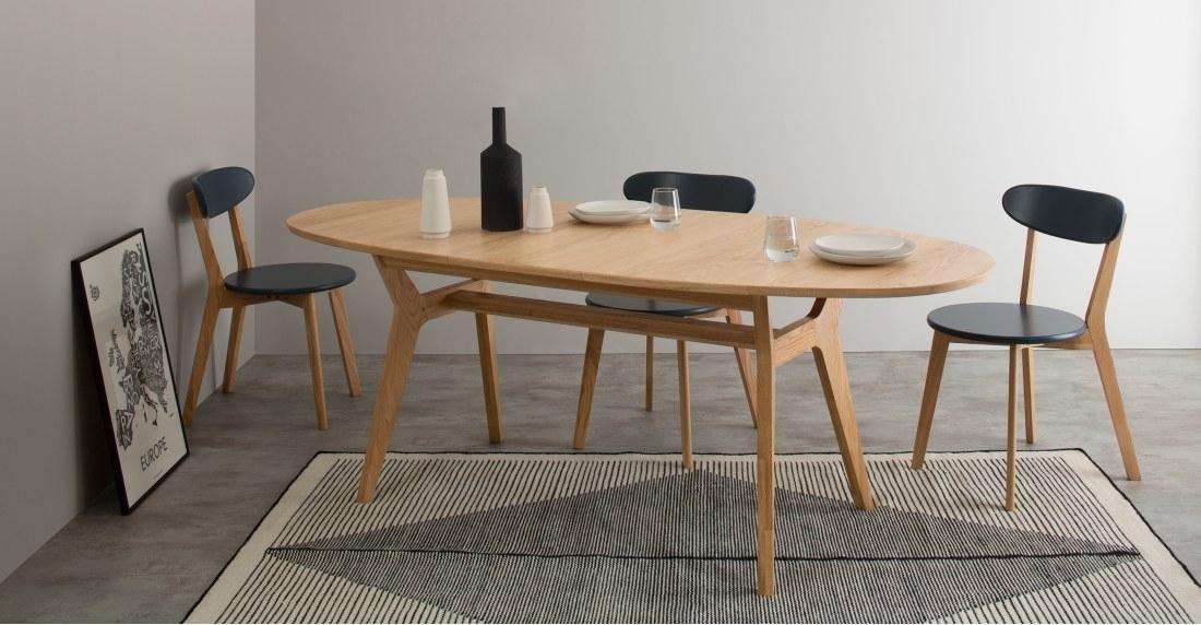 Jenson Oval Extending Dining Table, Oak | Made within Oval Extending Dining Tables and Chairs
