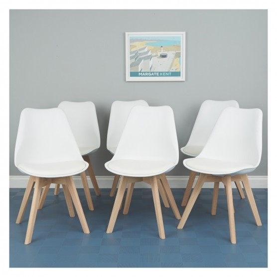 Jerry Set Of 6 White Dining Chairs | Buy Now At Habitat Uk Throughout White Dining Chairs (Image 12 of 25)