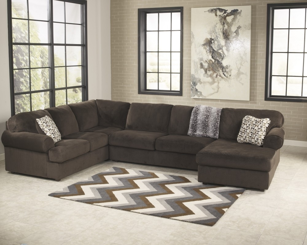 Jessa Place – Chocolate 3 Pc. Raf Chaise Sectional | 39804/17/34/66 Regarding Lucy Dark Grey 2 Piece Sectionals With Laf Chaise (Photo 11 of 25)