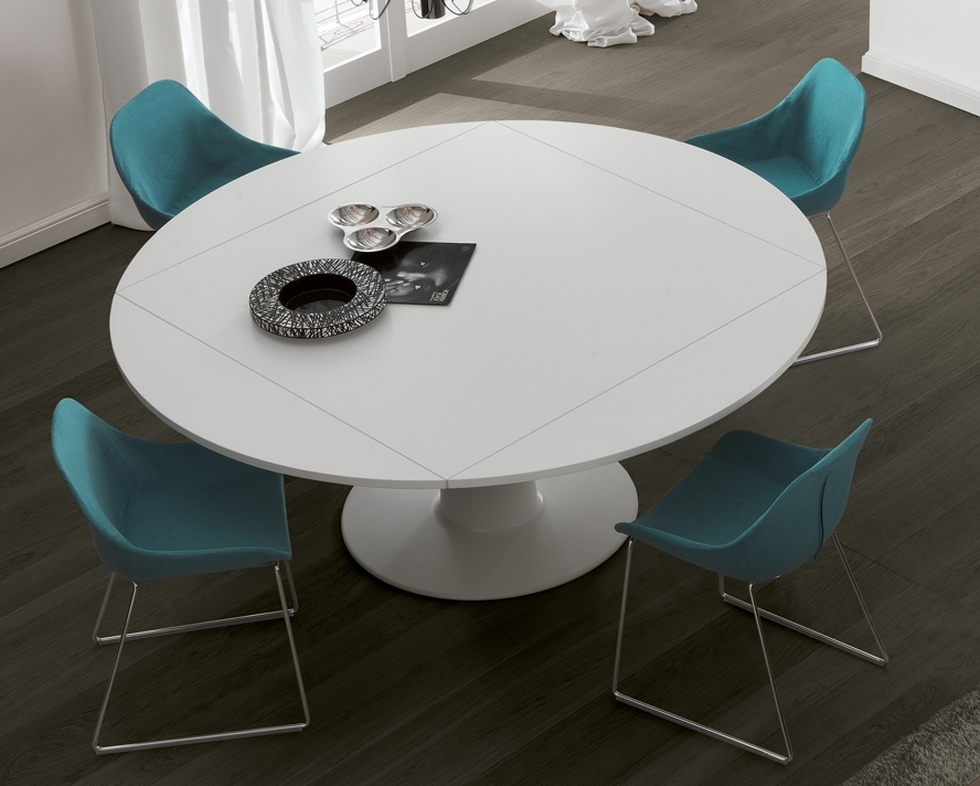 Jesse Moon Dining Table | Round Extending Dining Tables Intended For White Round Extendable Dining Tables (Image 12 of 25)