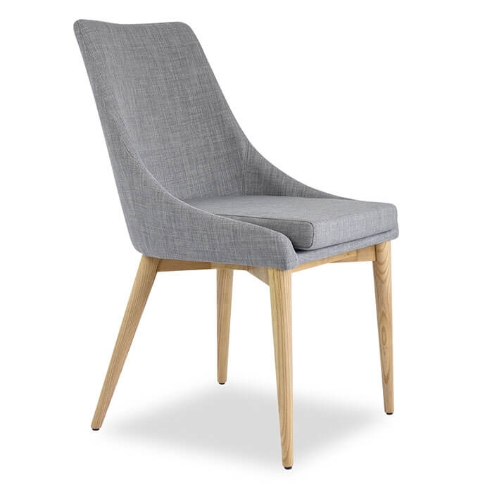 Jessica Contemporary Dining Chair In Light Grey – (Set Of 2) With Grey Dining Chairs (Image 12 of 25)