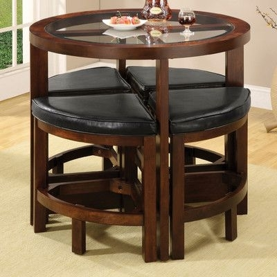 Jinie 5 Piece Counter Height Pub Table Set   Phoenix Rising With Regard To Valencia 5 Piece Counter Sets With Counterstool (Image 11 of 25)