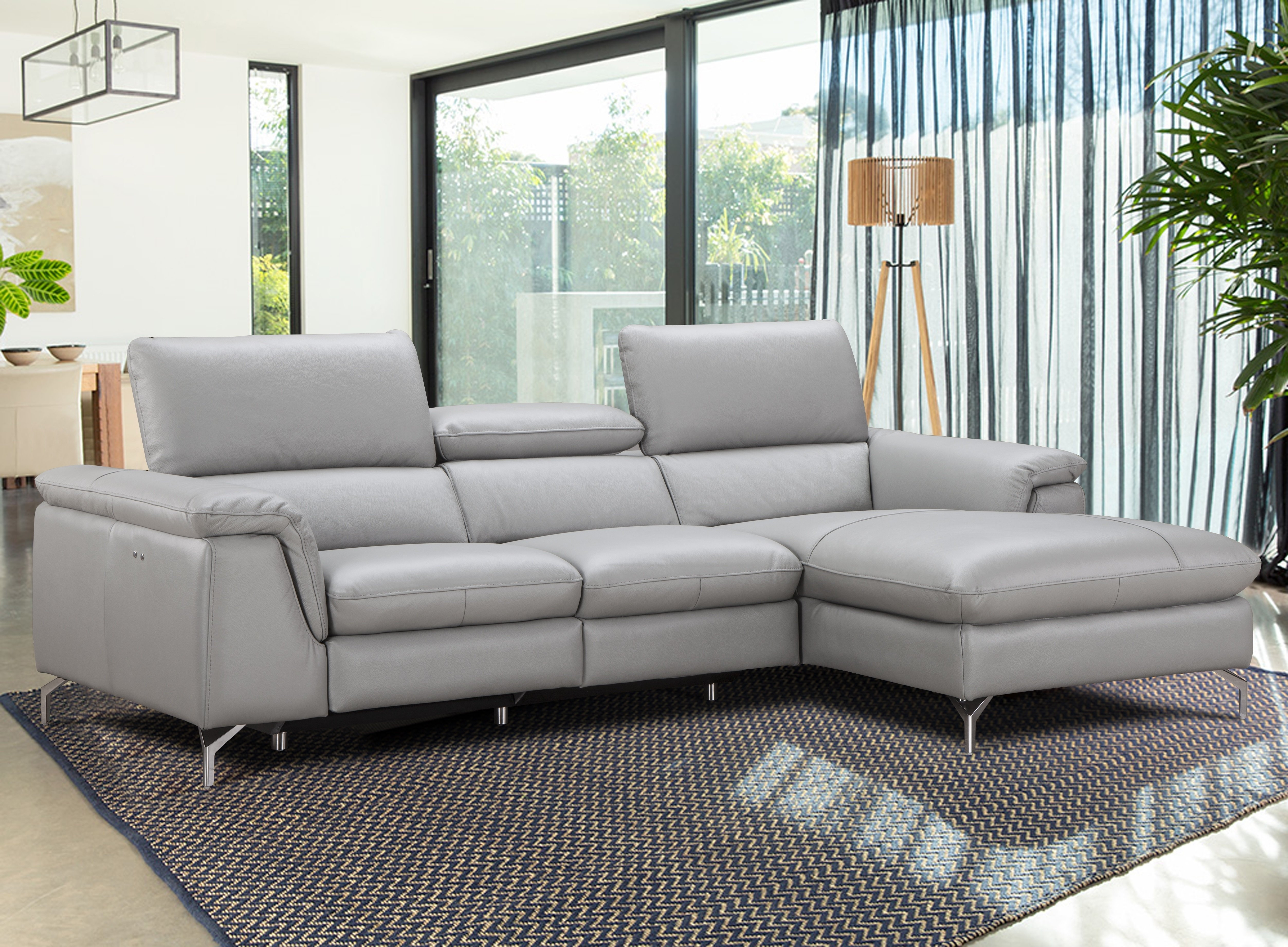 J&m Furniture Serena Leather Reclining Sectional & Reviews   Wayfair For Adeline 3 Piece Sectionals (Image 14 of 25)