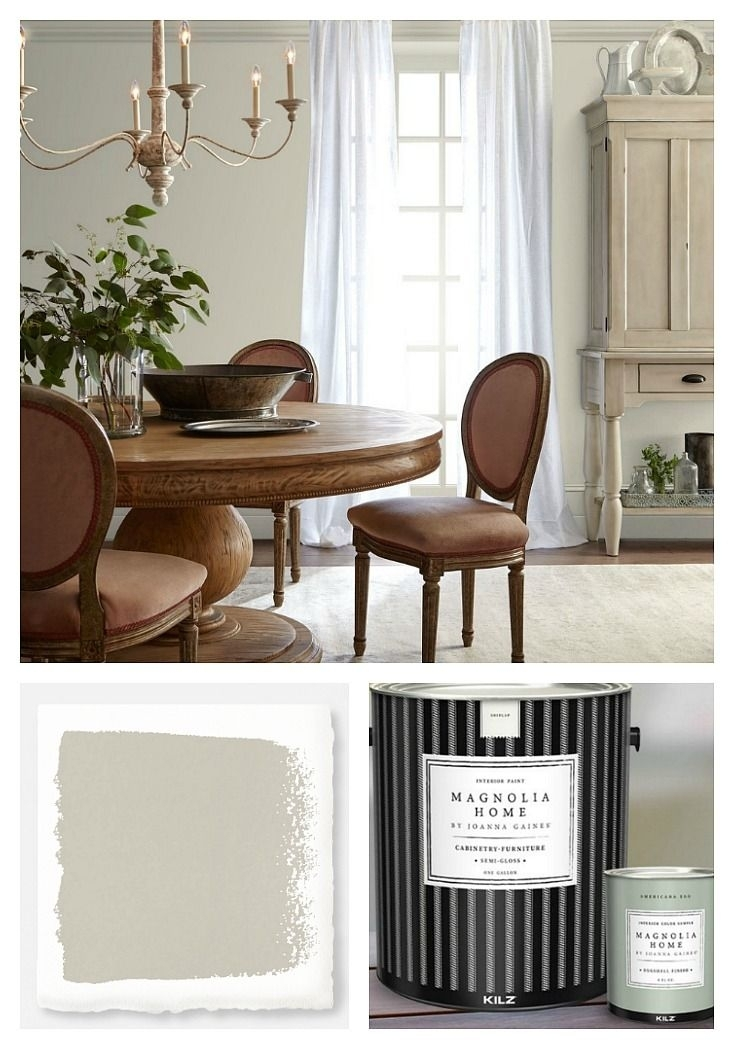 Joanna Gaines' 2018 Paint Color Picks | Interior Paint Colors regarding Magnolia Home Array Dining Tables By Joanna Gaines