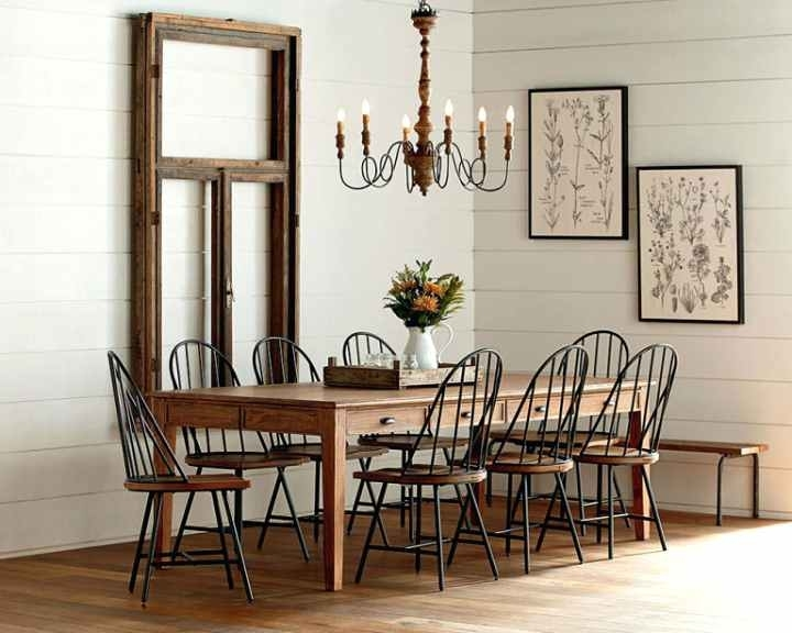 Joanna Gaines Dining Table Magnolia Homekeeping 7 Farmhouse Room Intended For Magnolia Home Double Pedestal Dining Tables (View 23 of 25)