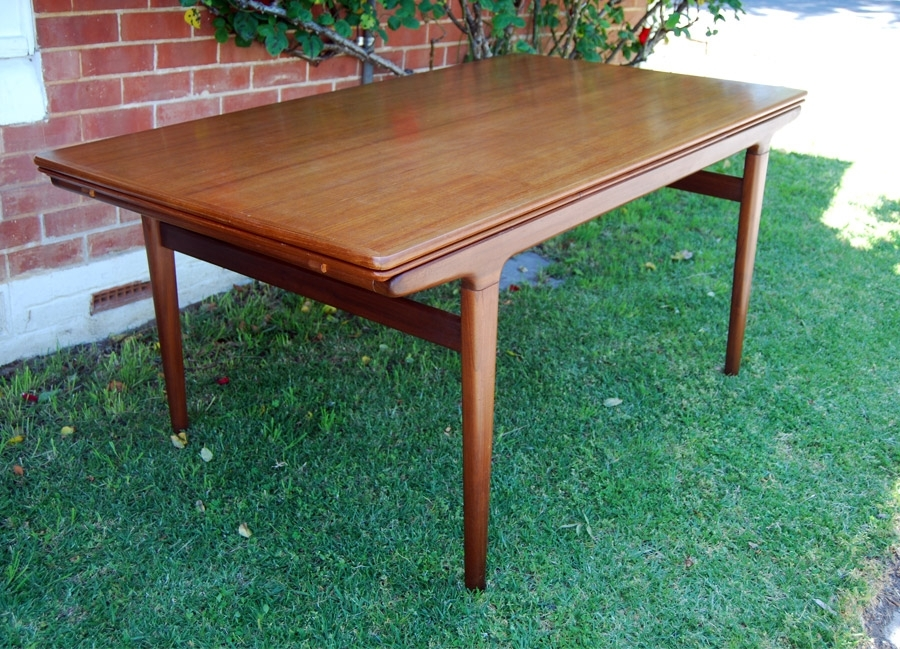 Johannes Andersen Teak Extending Dining Table To 2.6Metres 34D089 in Norwood Rectangle Extension Dining Tables