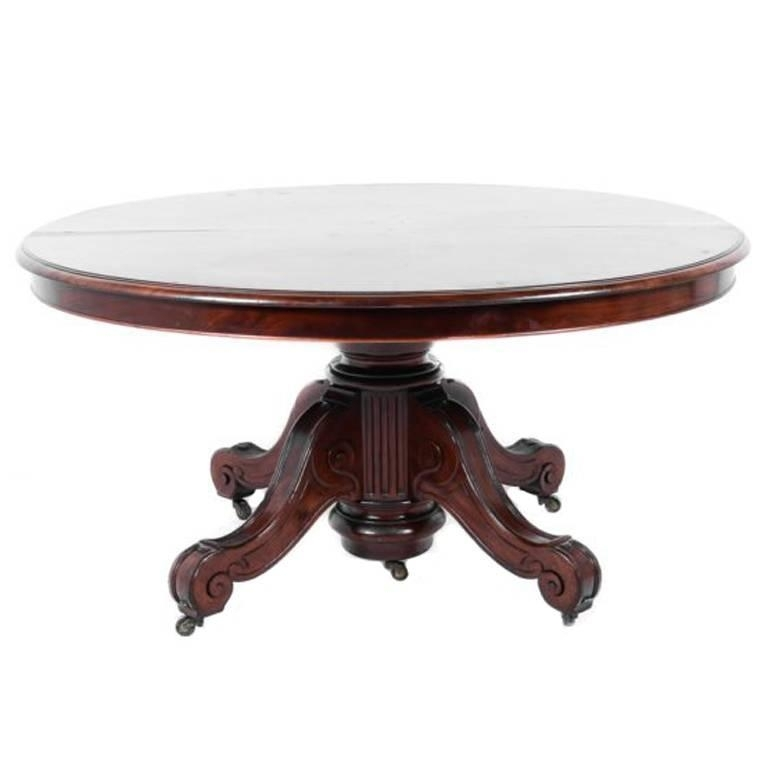 John Henry Belter Banquet Or Dining Table, Descended In Tiffany pertaining to Grady 5 Piece Round Dining Sets