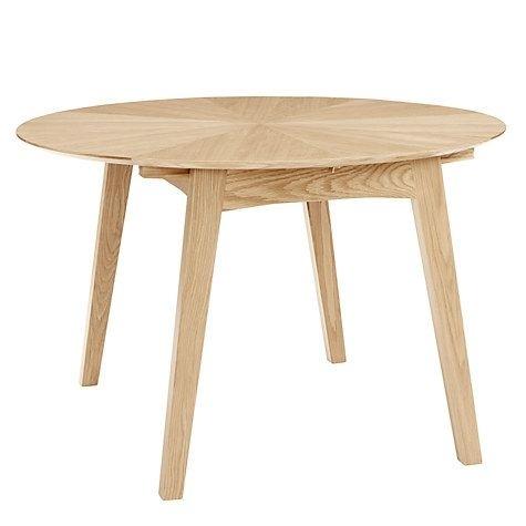 John Lewis Duhrer 4 6 Seater Extending Round Dining Table Within Extending Round Dining Tables (Image 14 of 25)
