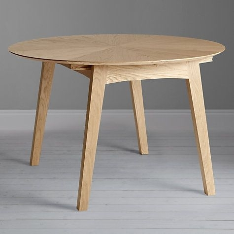John Lewis & Partners Duhrer 4 6 Seater Extending Round Dining Table Regarding Round 6 Seater Dining Tables (Image 14 of 25)