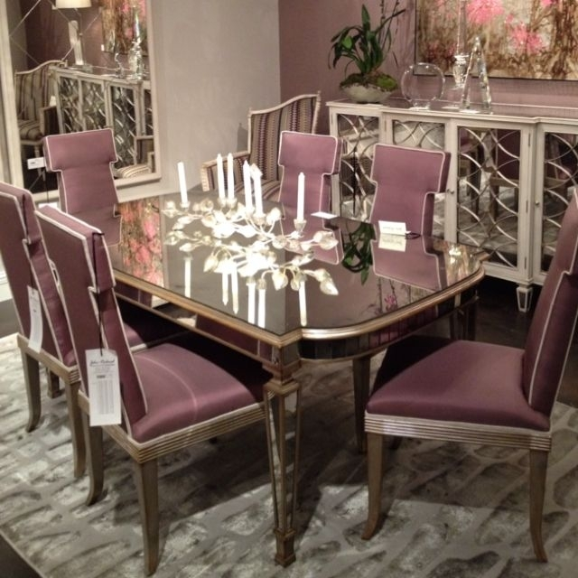 John Richard Antique Mirrored Dining Table: Solid Antique Mirror Top inside Antique Mirror Dining Tables