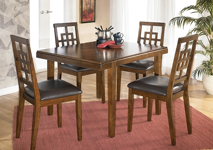 Johnson's Furniture Cimeran 5 Piece Dinette Set With Regard To Jaxon 5 Piece Extension Counter Sets With Fabric Stools (Image 14 of 25)