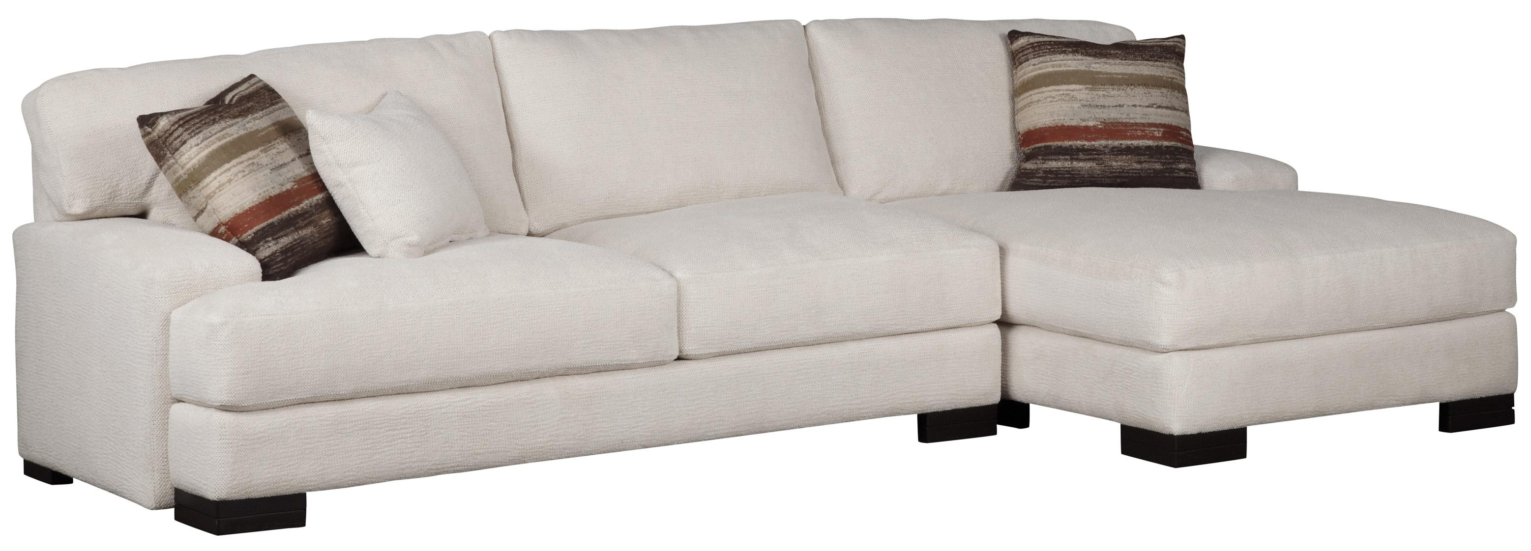 Jonathan Louis Burton Modern Sectional With Right Chaise | Olinde's with Burton Leather 3 Piece Sectionals With Ottoman