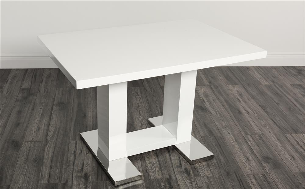 Joule White High Gloss Dining Table 120Cm Only £ (Image 14 of 25)