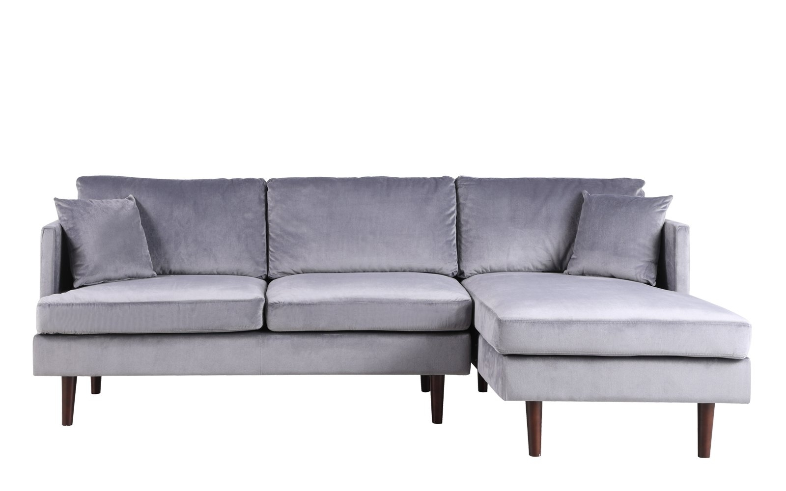 Jovanni Modern Art Deco Jewel Tone Microfiber Sectional Sofa | Sala For Declan 3 Piece Power Reclining Sectionals With Right Facing Console Loveseat (Image 11 of 25)