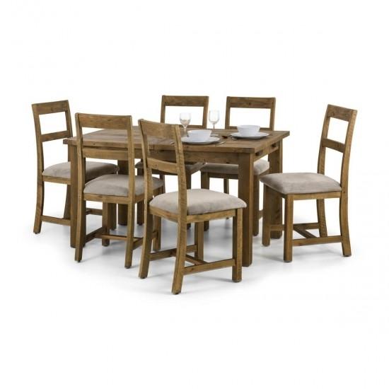 Julian Bowen Aspen Extending Wooden Dining Table And 4 Aspen Dining Intended For Aspen Dining Tables (Image 20 of 25)
