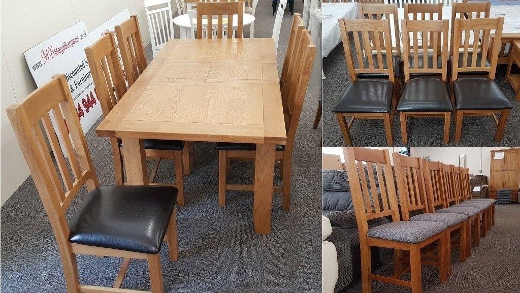 Julian Bowen Astoria Extending Oak Dining Table & 6 Dining Chairs Intended For Extending Oak Dining Tables (Photo 20 of 25)