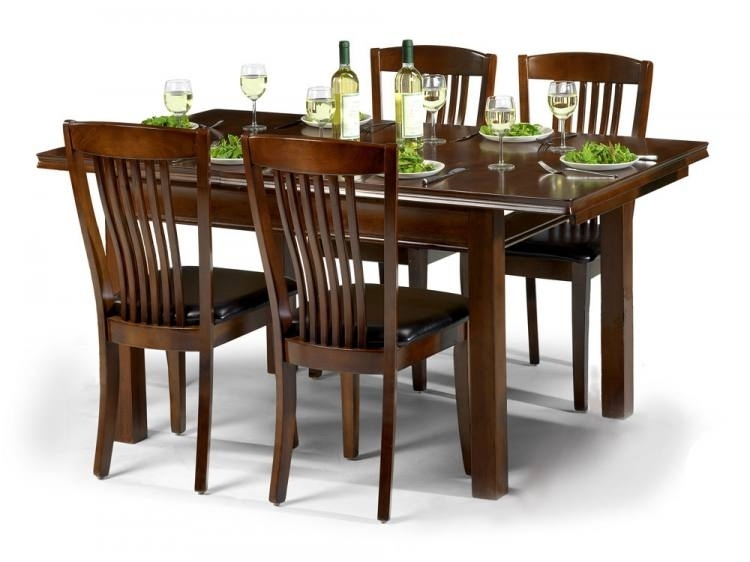 Julian Bowen – Canterbury Extending Dining Table With 4 Or 6 Chairs Intended For Mahogany Dining Table Sets (Image 9 of 25)