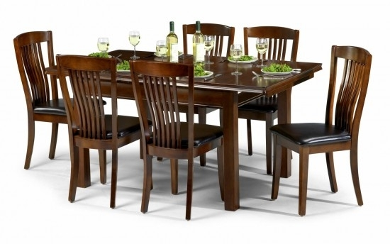 Julian Bowen Canterbury Mahogany Dining Set Table + 4 Slatted Chairs regarding Mahogany Dining Tables and 4 Chairs