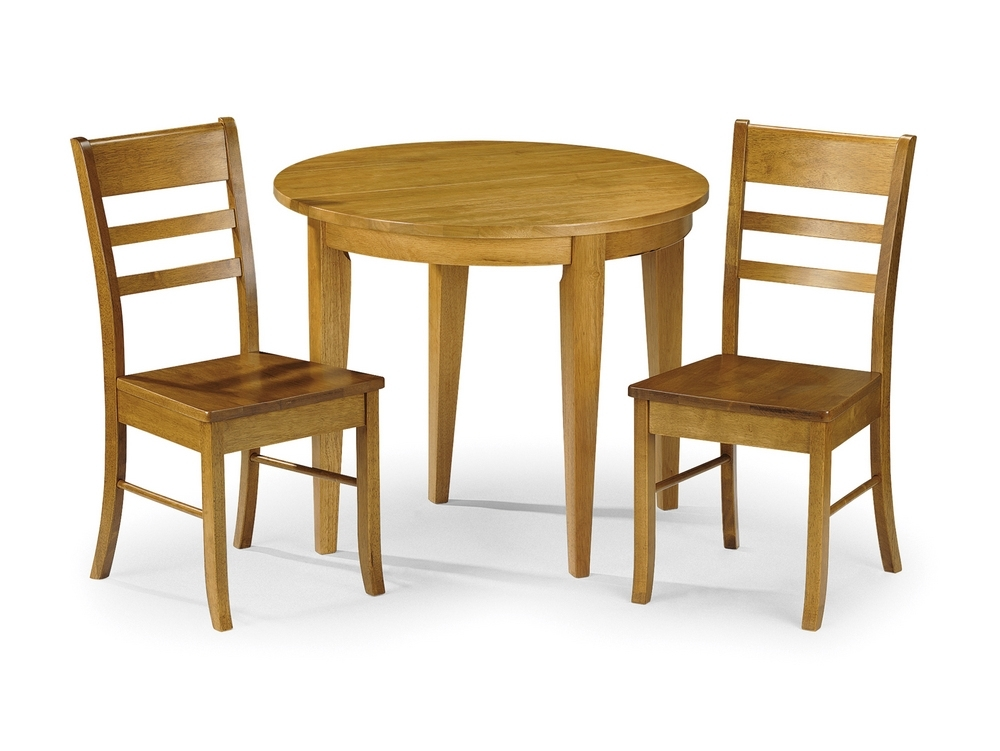 Julian Bowen Consort 90Cm Honey Pine Half Moon Round Wrought Iron With Round Half Moon Dining Tables (Image 25 of 25)