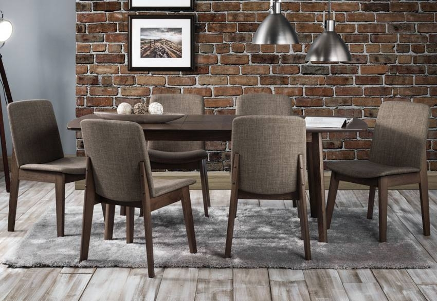 Julian Bowen – Kensington Extending Dining Table & Dining Chairs Within Walnut Dining Tables And 6 Chairs (Photo 25 of 25)