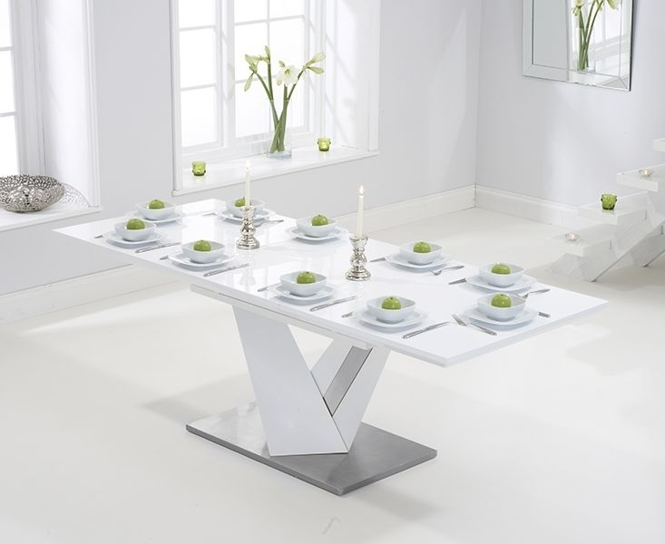 Julian Bowen Metro High Gloss White Coffee Table | High Gloss Within White Gloss Extending Dining Tables (Image 9 of 25)
