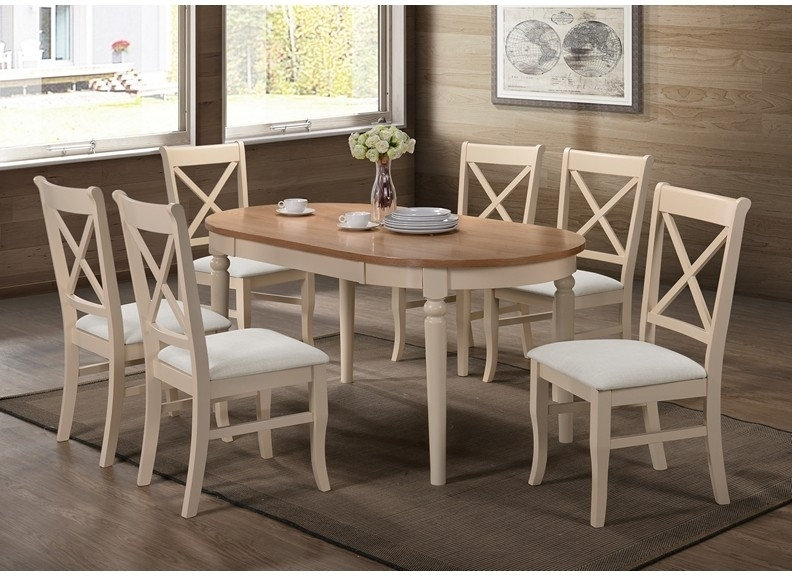 Juliet Cream Dining Table With Six Matching Chairs   Holroyd & Jones   With Regard To Cream Dining Tables And Chairs (Image 19 of 25)