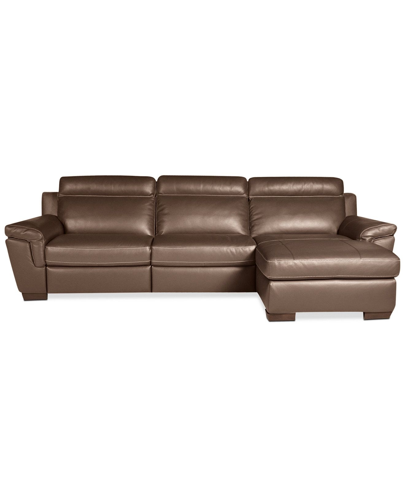 Julius 3 Piece Leather Power Motion Chaise Sectional Sofa (Power Regarding Declan 3 Piece Power Reclining Sectionals With Right Facing Console Loveseat (Image 12 of 25)