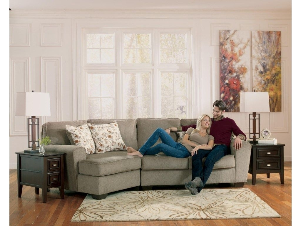 Just The Right Size For A Smaller Living Area, This Two Piece Inside Blaine 4 Piece Sectionals (Image 11 of 25)