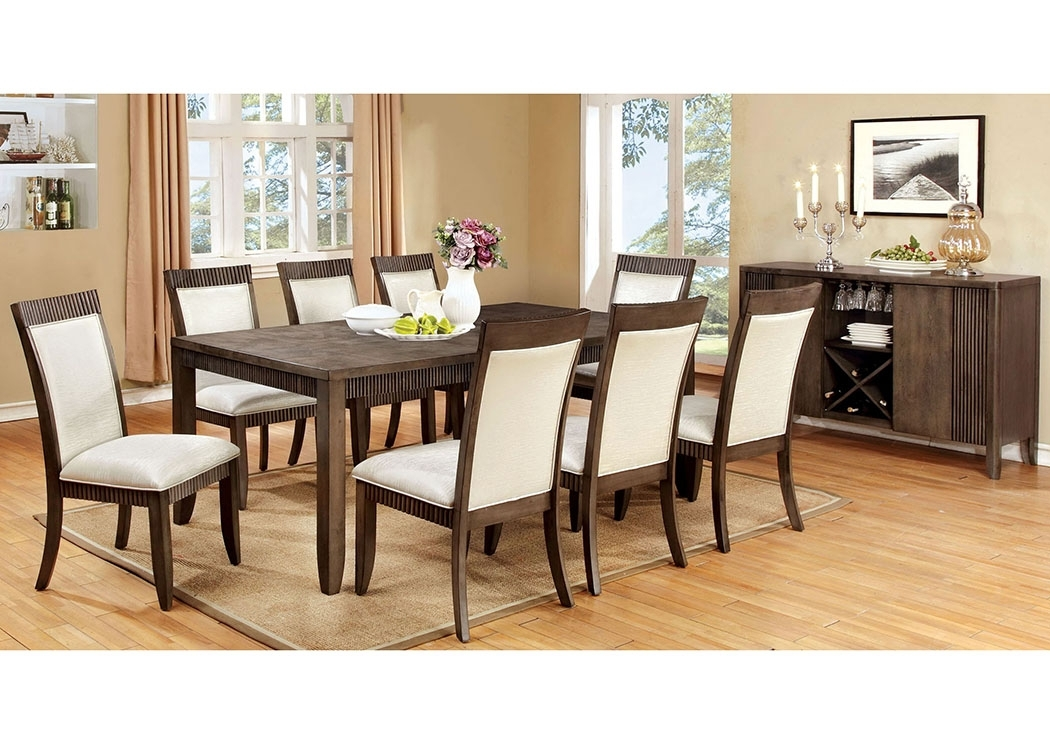 Justin's Furniture Company Forbes L Extension Dining Table W/6 Side Intended For Craftsman 7 Piece Rectangle Extension Dining Sets With Side Chairs (Image 17 of 25)