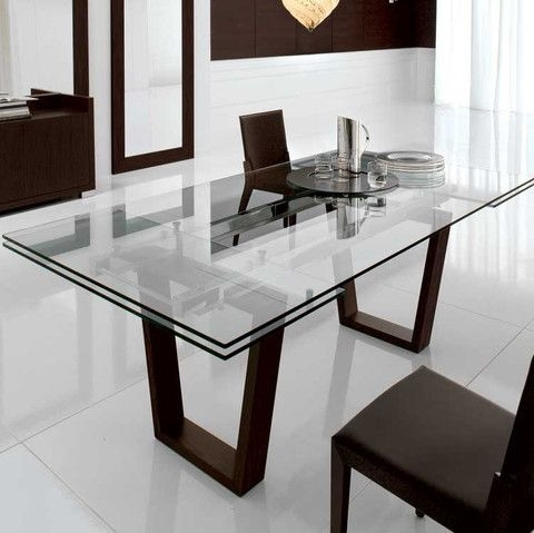 Kasala – Modern, Bold, Glass Extension Dining Table – Modern Regarding Candice Ii Extension Rectangle Dining Tables (Image 13 of 25)