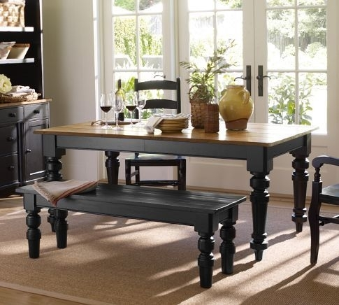 Keaton Extending Dining Table – Artisanal Black Stain | Pottery Barn For Artisanal Dining Tables (Photo 3 of 25)