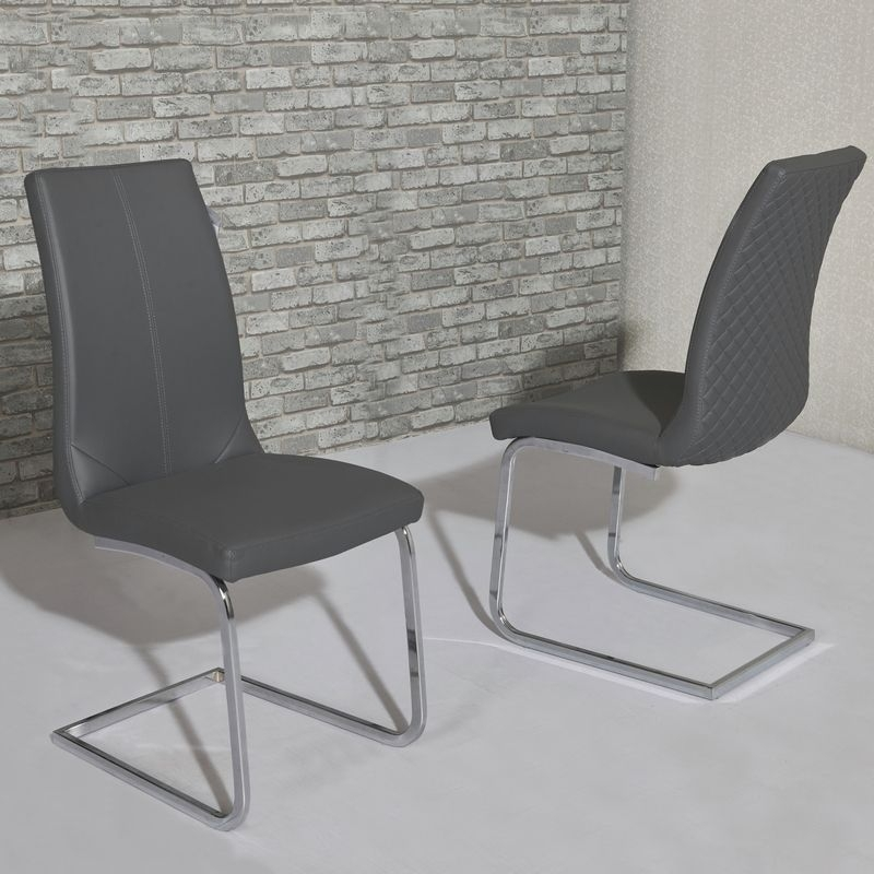 Kelcy Grey Dining Chair With Grey Dining Chairs (View 13 of 25)
