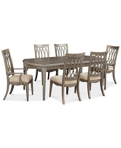 Kelly Ripa Home Hayley 7-Pc. Dining Set (Dining Table, 4 Side Chairs with regard to Jaxon Grey 5 Piece Extension Counter Sets With Wood Stools